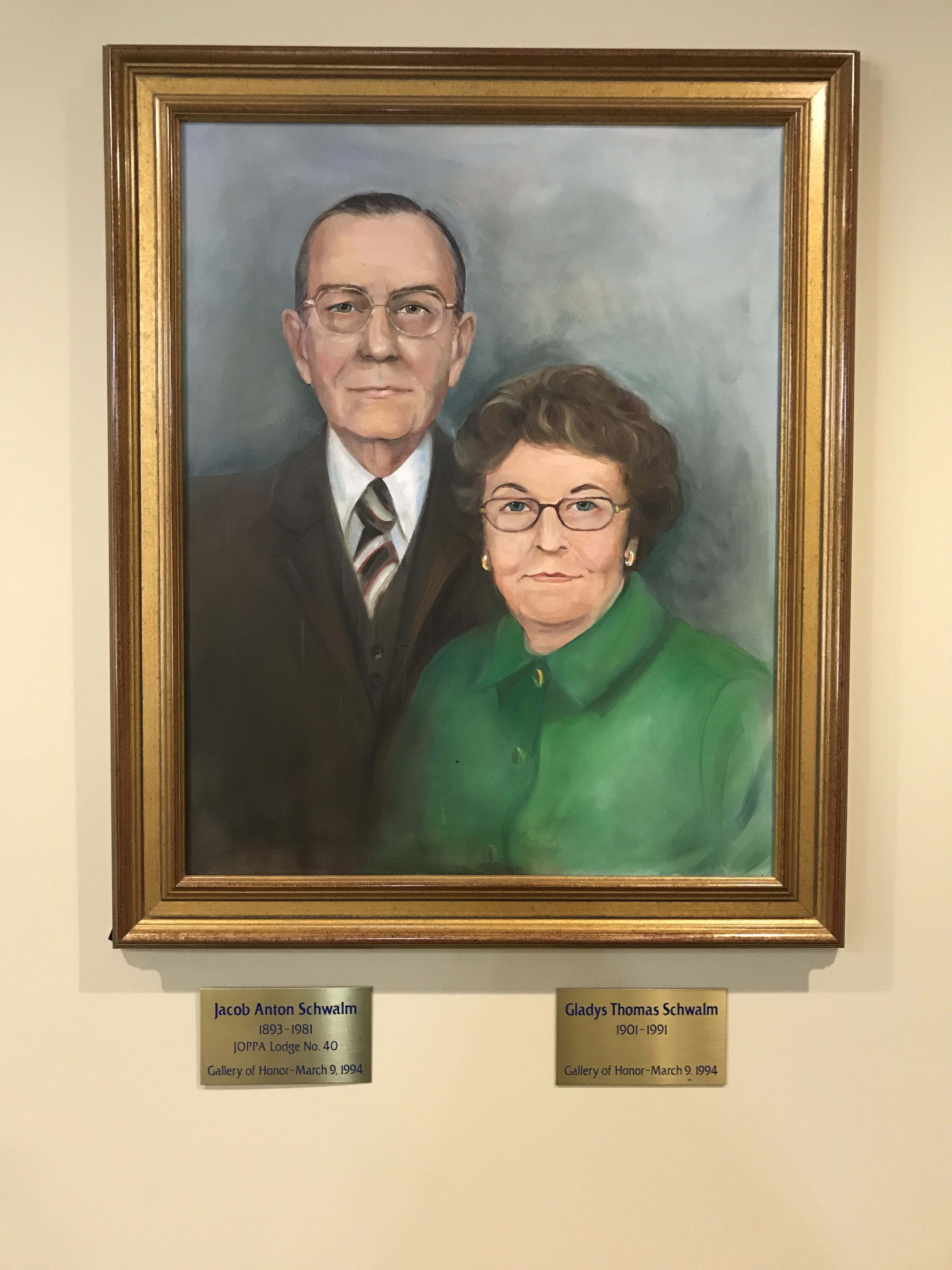 Honorees Jacob and Gladys Schwalm