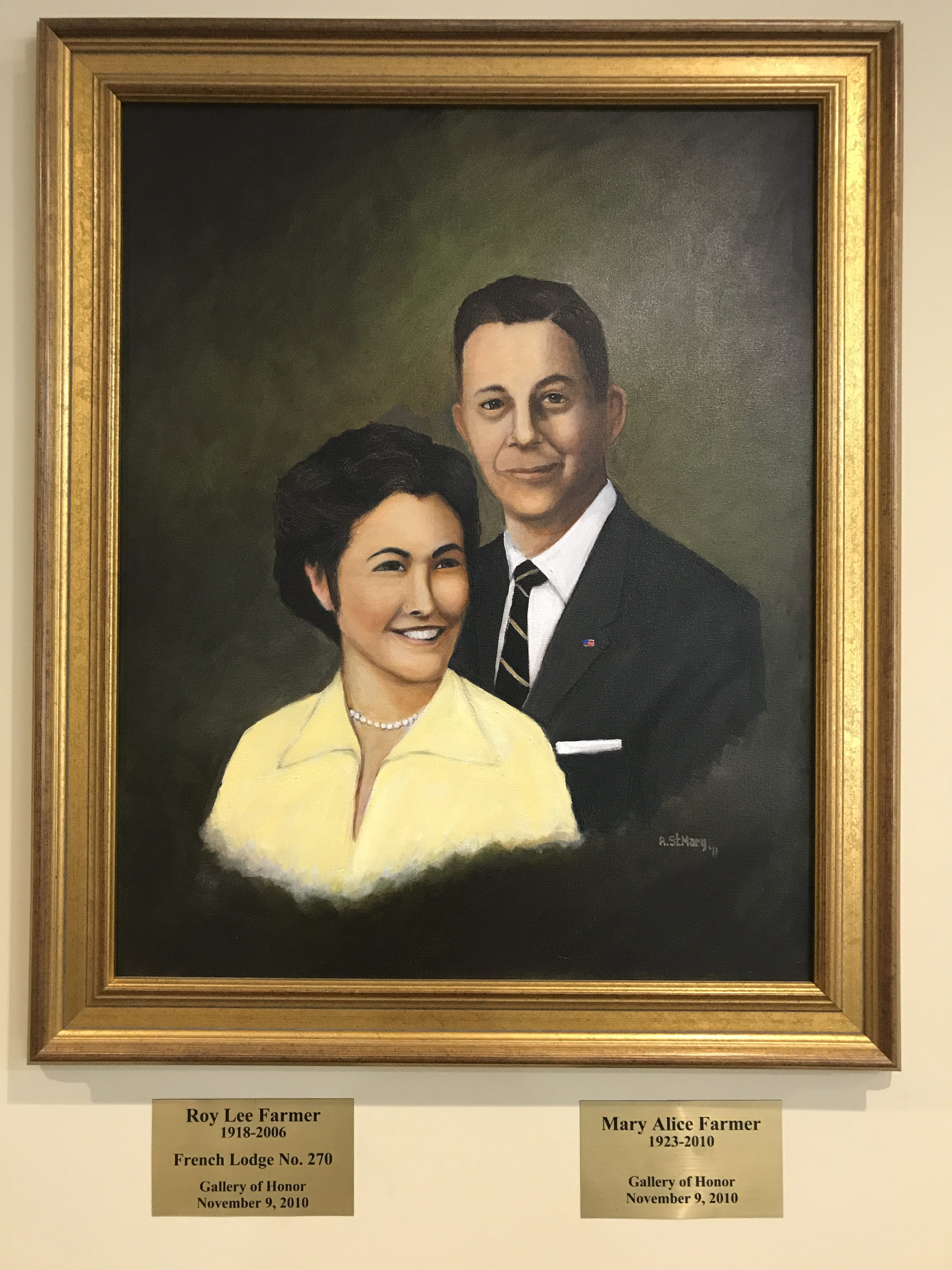 Honorees Roy and Mary Farmer